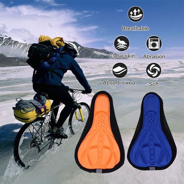 Thick and Comfortable Silicone 3D Saddle for Mountain Bike Bicycle