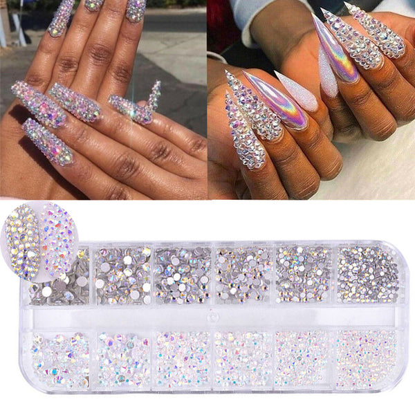 12 Boxes / Set of Crystal Rhinestone Diamond Gem