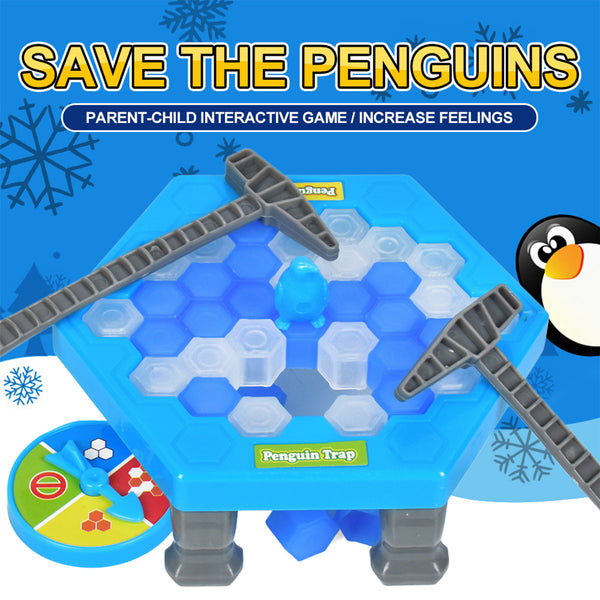 Save The Penguin Broke The Ice Trap Children's Educational Game Toy