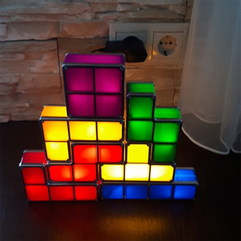 DIY Russian Colorful Stackable Square Night Light