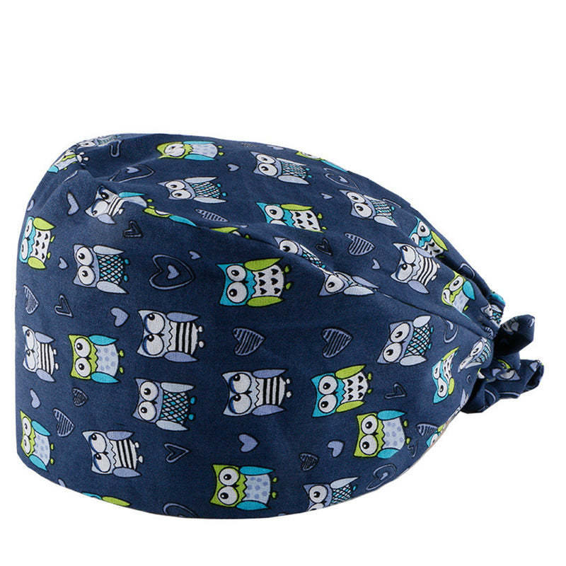 Printed Frosted Hat Cotton Dustproof Work Hat