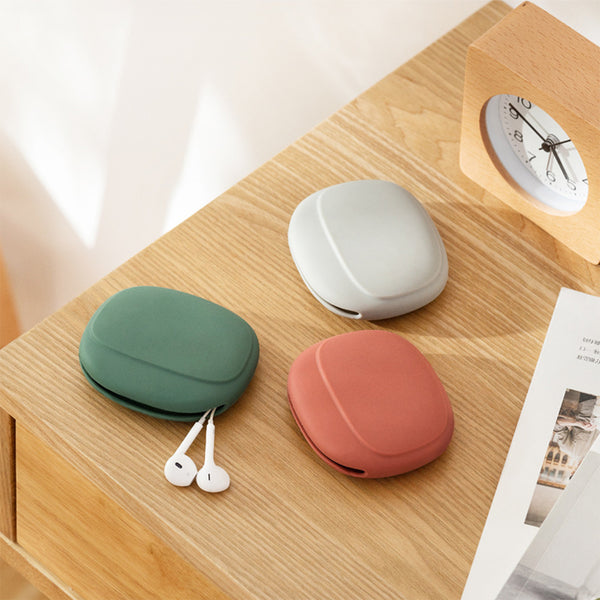 Portable Data Cable Earphone Silicone Storage Box