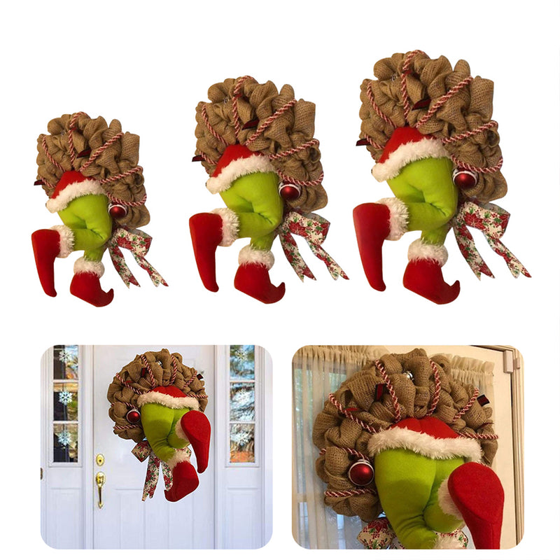 Christmas Burlap Wreath Grinch Stole A Funny Christmas Gift