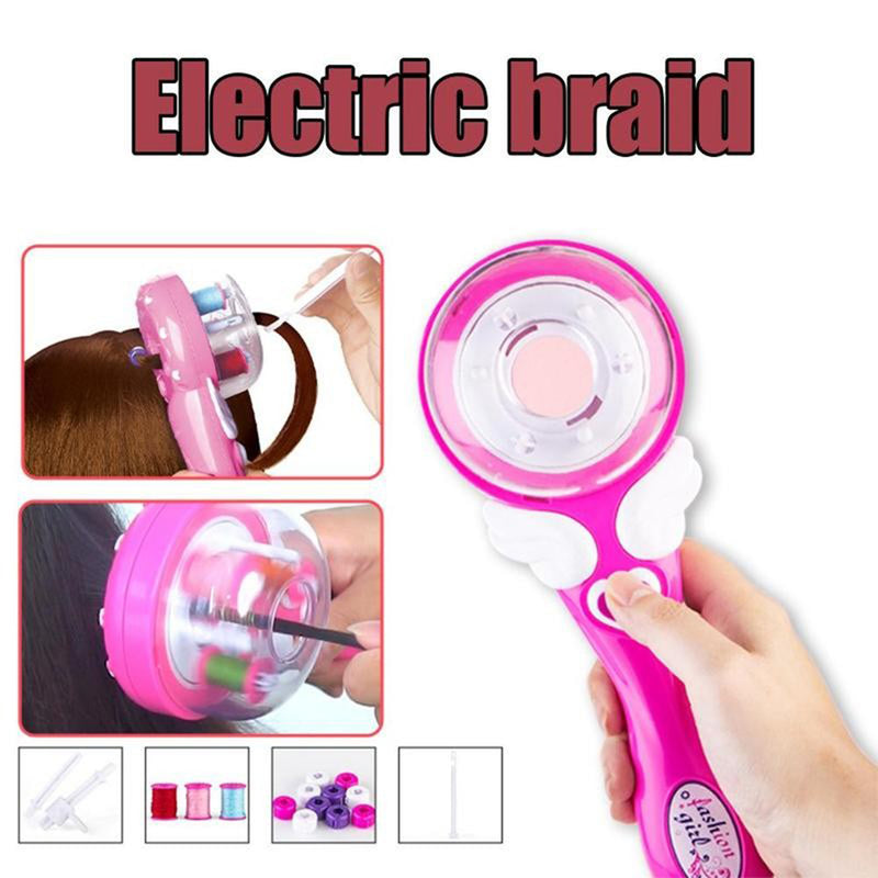 Electric Automatic Twist Braid Knitting Machine Hairdressing Tool Girl Gift