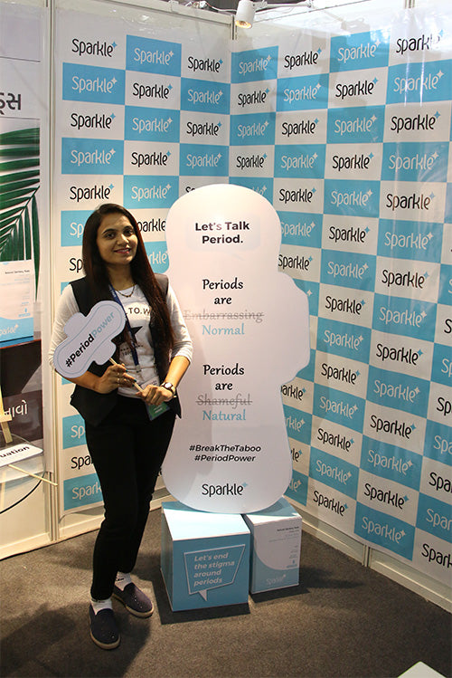 Sparkle sustainable plastic-free biodegradable banana fiber sanitary pads