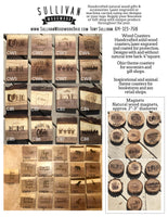 Wood Drink Coaster - Bulk Wholesale Order Set of 12