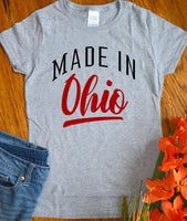 Ohio Home Shirt, Made in Ohio Shirt Proud State Resident Born in Ohio for Women Ladies Tee Shirt Local Pride TShirt
