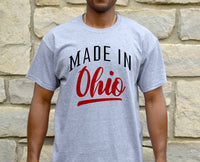 Ohio Home Shirt, Made in Ohio Shirt Proud State Resident Born in Ohio for Men Unisex Guys Mens Tee Shirt Local Pride TShirt