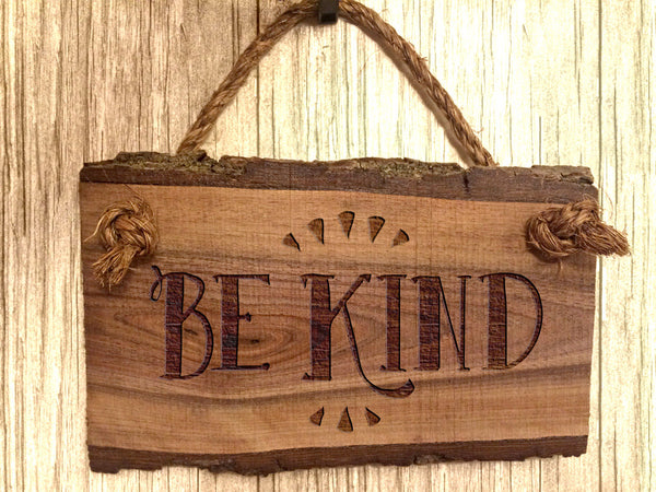 Wood Sign Be Kind Wooden Sign Sayings Home Decor Rustic Farmhouse Inspirational Wall Art Quote