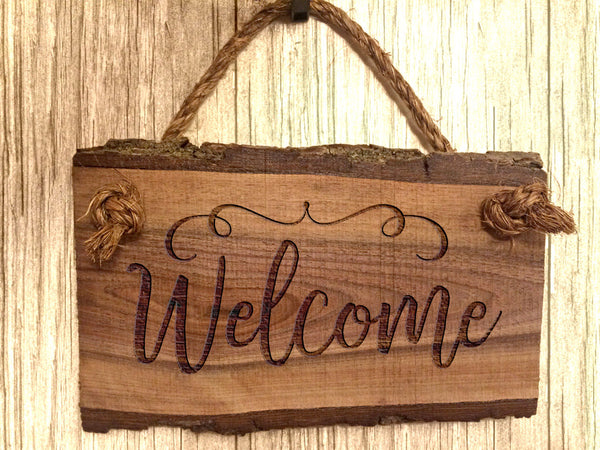 Wood Welcome Sign Home Decor Wooden Sign Sayings Rustic Farmhouse Wall Art Hanging