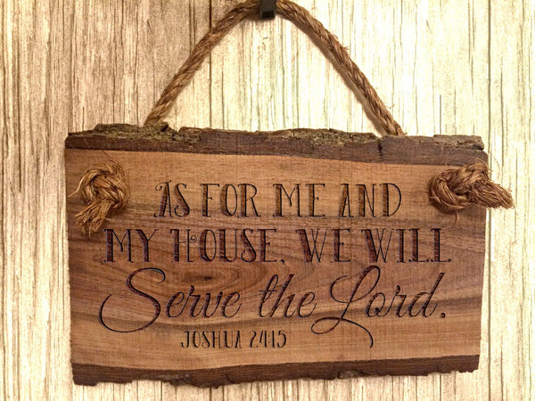 Bible Verse Wall Art As for me and my house we will serve the Lord Scripture Verse Wood Sign Sayings Christian Home Decor Rustic Farmhouse