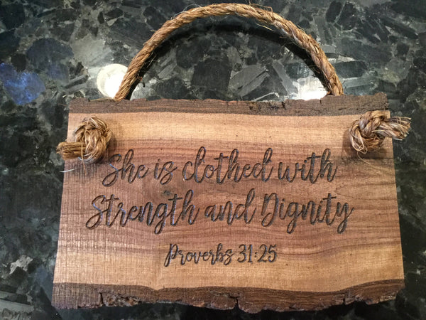 Proverbs 31 virtuous woman Scripture Verse wood saying Wall Art Wooden Sign Home Decor Rustic Farmhouse Christian sign