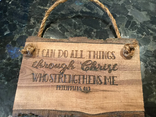 Bible Verse Wall Art, I can do all things scripture Verse wood saying Wall Art Wooden Sign Home Decor Rustic Farmhouse Christian sign