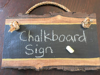 Rustic Chalkboard Sign Wood Rustic Wedding Decor Rustic Classroom Door Hanger Teacher Gift Sign Door Hanger Live Edge Hanging Chalk Board