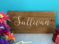 Wood Name Sign Custom Farmhouse Sign Wooden Last Name Signs Large Family Name Wedding Custom Farmhouse Rustic Wall Decor Carved Sign