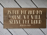 Bible Verse Sign Christian Wood Signs Scripture Home Decor Joshua 24:15 As for Me and My House Rustic Wood Carved Engraved Wooden Wall Art