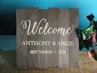 Wood slat welcome Signs Wedding Wooden Welcome Table Signage Custom Personalized Rustic Wedding Decor for Cards Gifts Favors Sign Our Guest