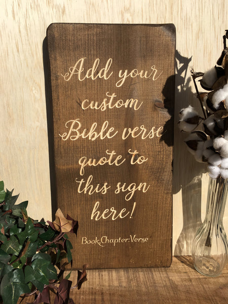 Bible Verse Wall Art Wood Sign Custom Vertical Christian Wall Art Scripture Signs Home Decor Choose your Favorite Bible Passage Gift Plaque