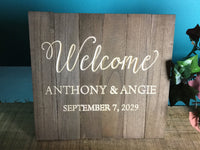 Welcome Wood Signs Wedding Wooden Welcome Table Signage Custom Personalized Rustic Wedding Decor for Cards Gifts Favors Sign Our Guestbook C