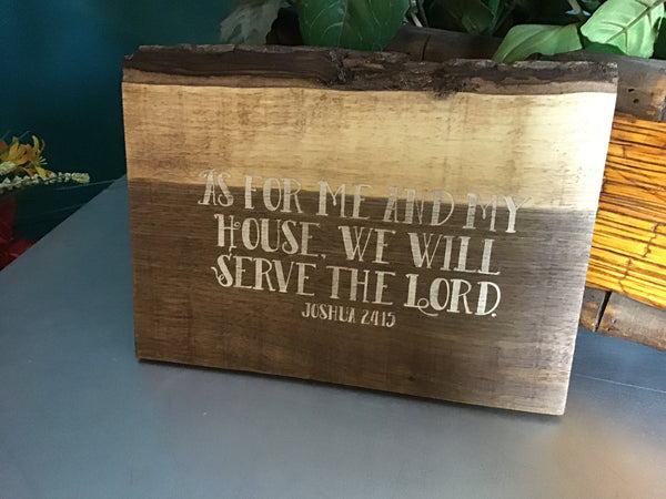 Custom live edge sign with white letter | custom bible scripture sign | live edge sign | Bible verse sign | Christian wood sign | Home decor