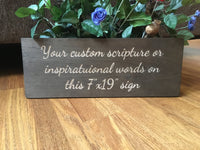Custom Wood Signs for Home Decor, Wedding, Engraved Personalized Wooden Sign Bible Verse Christian Scripture Wall Art With Quotes Sayings