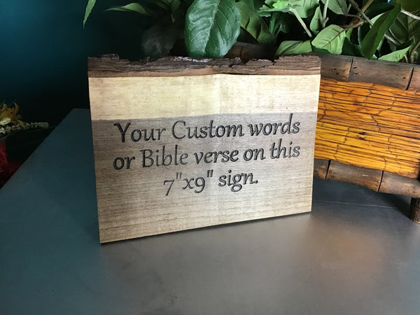 Custom live edge sign with black letter | custom bible scripture sign | live edge sign | Bible verse sign | Christian wood sign | Home decor
