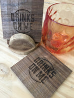 Wood Drink Coaster - Choose a Design