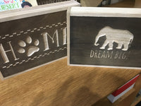 Wood Box Sign for Wall or Desk - Choose a Design