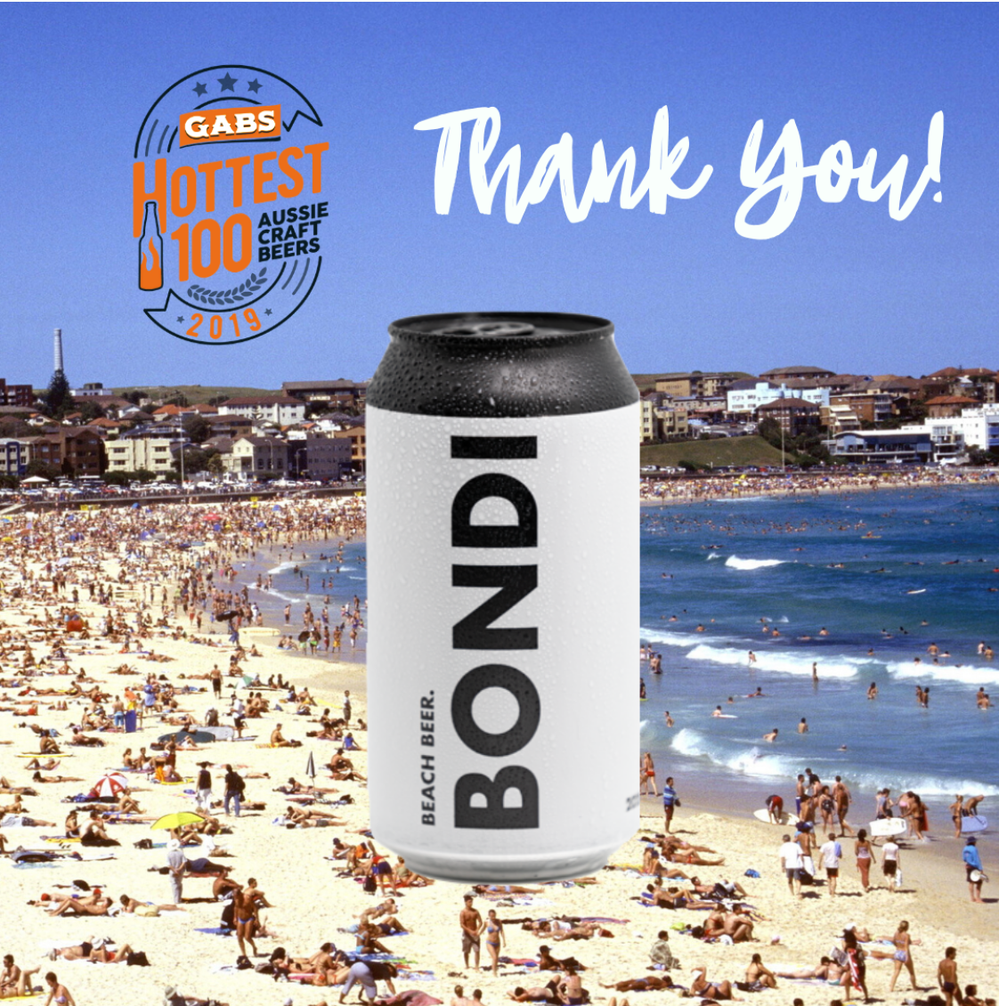 GABS 2020 - Bondi Beer In The Top 50 !
