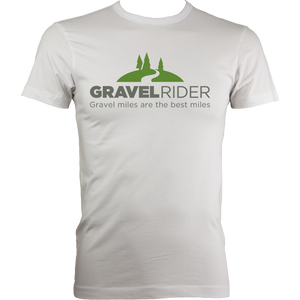 T-Shirt - Gravel miles are the best miles - Men's - Fitted