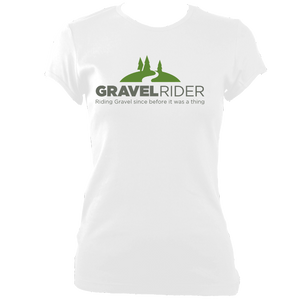 T-Shirt - Riding Gravel since before it was a thing - Womens - Fitted