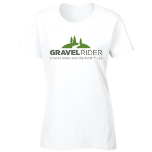 T-Shirt - Gravel miles are the best miles - Women's - Regular Fit