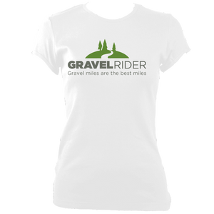 T-Shirt - Gravel miles are the best miles - Women's - Fitted