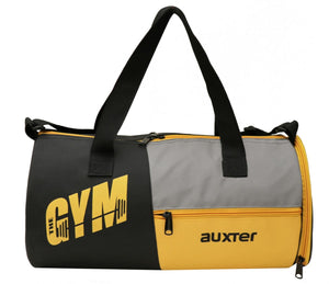 Auxter Premium Black / Yellow Sports Duffel Gym Bag with Shoe Compartment