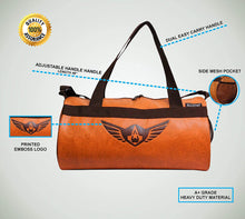 Load image into Gallery viewer, Gym Bag Duffel Bag Emboss Logo Tan Color