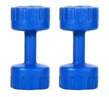 Load image into Gallery viewer, DEE MANNEQUIN Set of 4KG Blue PVC Fixed Dumbbell Set (Women & Men)