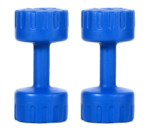 DEE MANNEQUIN Set of 4KG Blue PVC Fixed Dumbbell Set (Women & Men)