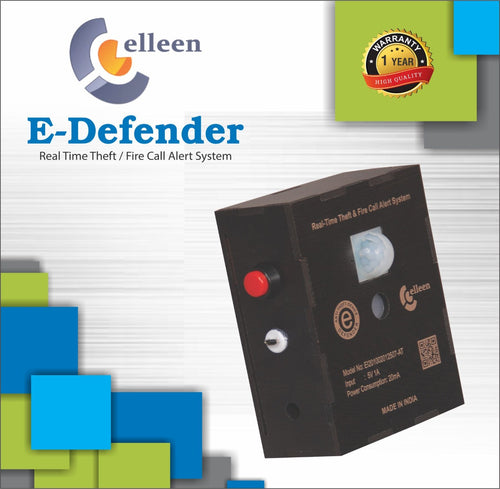 E-Defender Real Time Theft and Fire Call Alert System