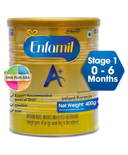 Enfamil A Plus With DHA ARA Stage 1 Infant Formula - 400 gm