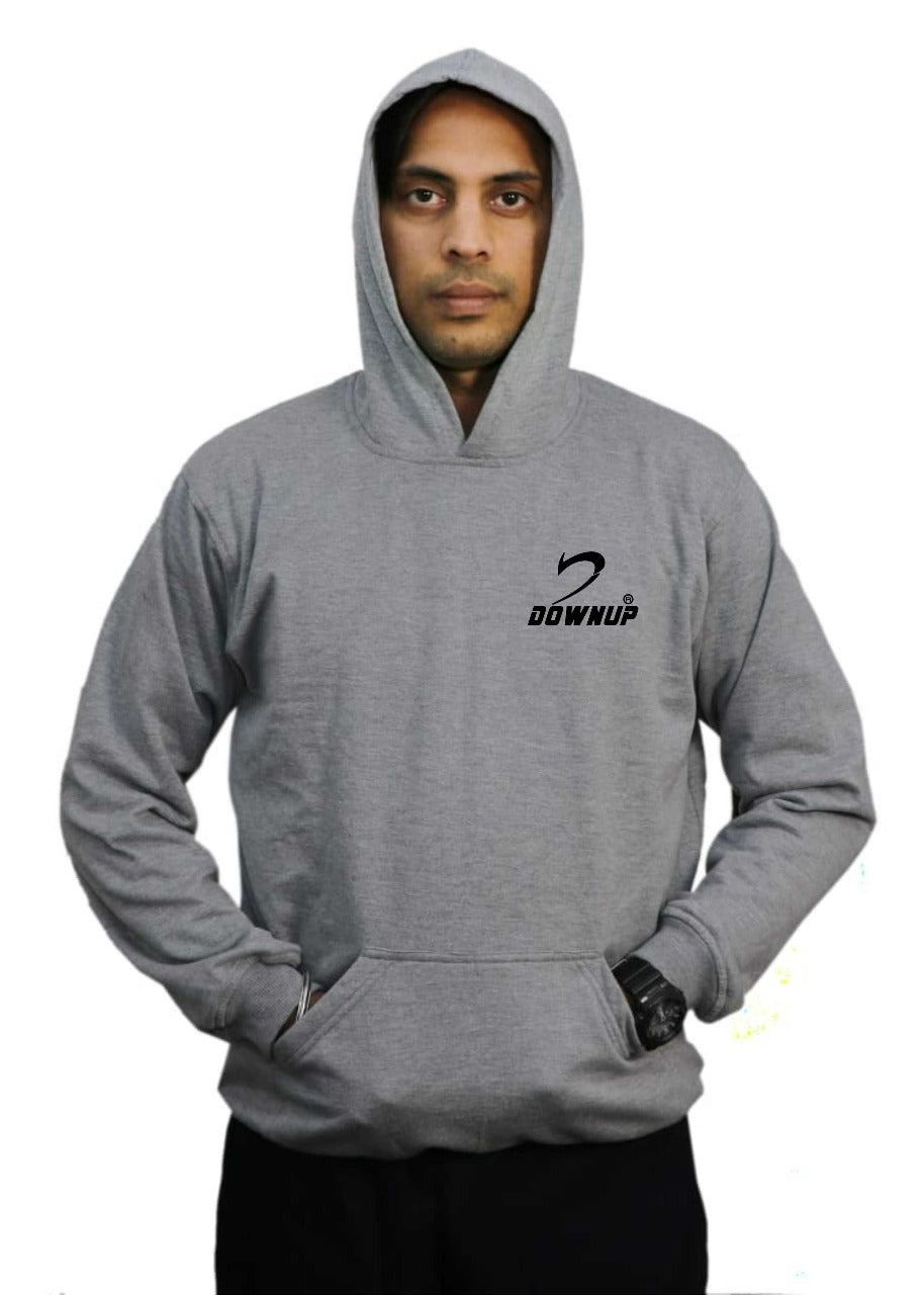 Downup Grey Fleece Hoodie