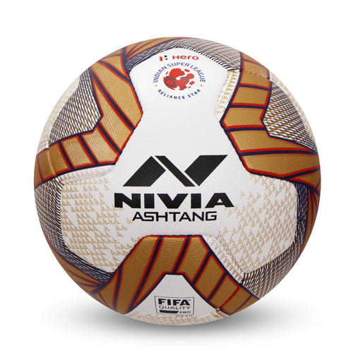 NIVIA Ashtang Pro with ISL logo Match Football Size-5