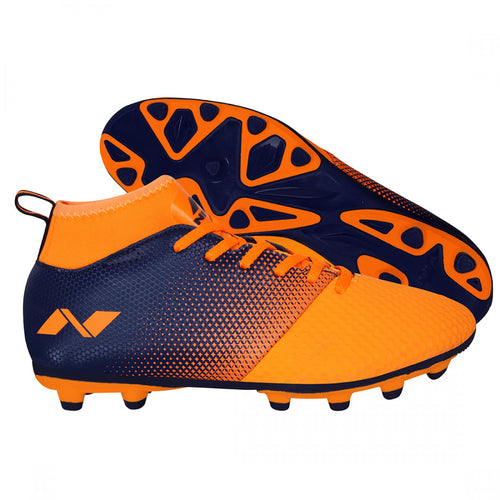 NIVIA Ashtang Orange Football Shoes for Men