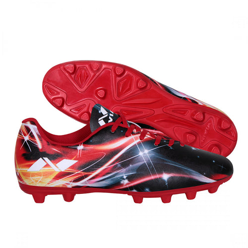 NIVIA Invader Red Football Shoes for Men
