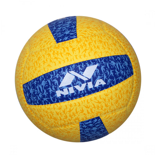 NIVIA G2020 Volleyball Size – 4 (Yellow / Blue)