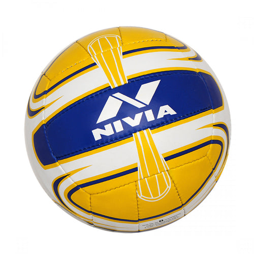 NIVIA Super Synthetic Volleyball Size – 4 (White / Yellow / Blue)