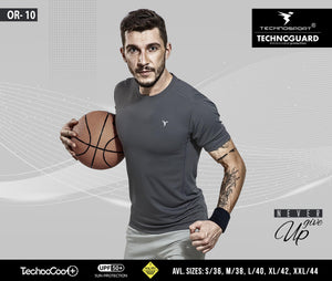 TechnoSport Crew Neck Half Sleeve Dry Fit T Shirts for Men OR-10