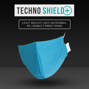 Face Mask Techno Shield+ V2.0 Reusable Anti Microbial Pack of 6 Pieces