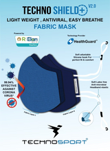 Load image into Gallery viewer, Face Mask Techno Shield+ V2.0 Reusable Anti Microbial Pack of 6 Pieces