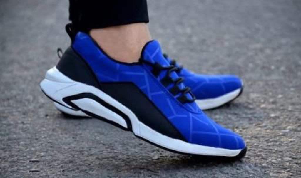 Designer Trendy Attractive Men's Sports Running Shoes (Blue)