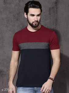 Trendy Cotton Men's T Shirt S-376316